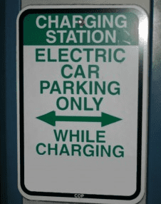 Car charging station sign